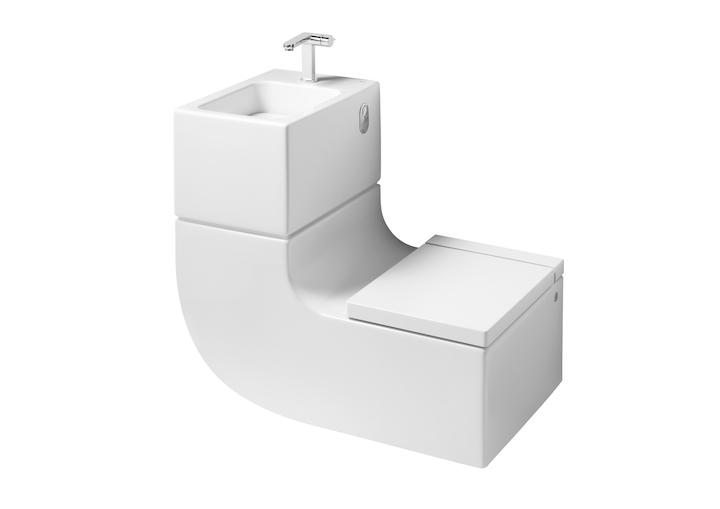 W+W Wall-hung vitreous china WC and basin