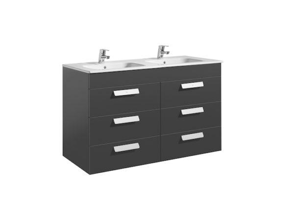 Debba Unik (móvel com 6 gavetas e lavatório duplo)