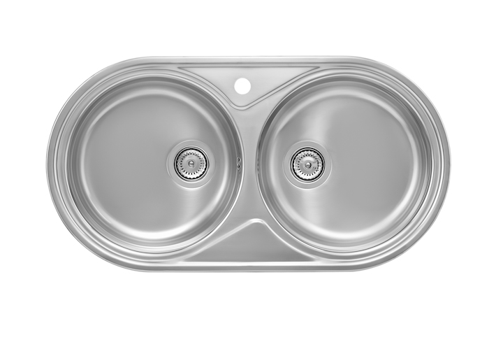 Duo sink with 2 bowls
