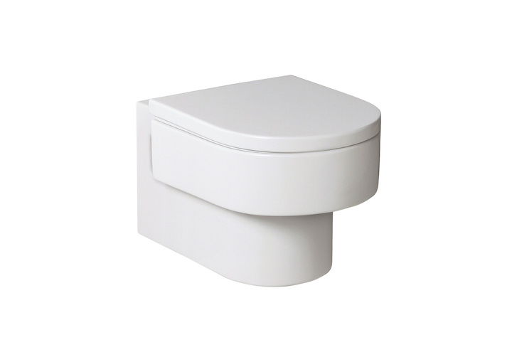 Happening wall-hung WC with horizontal outlet