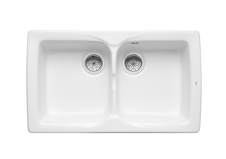 Beverly sink with 2 bowls