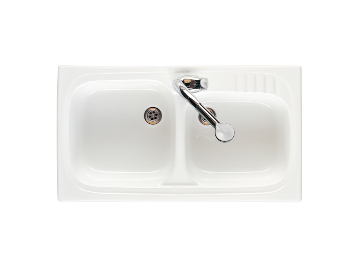 Leman sink with 2 bowls