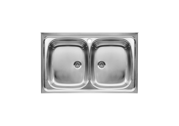 E sink with 2 bowls