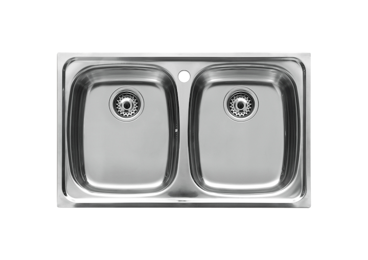 P sink with 2 bowls